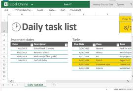 task management template daily task list template for excel