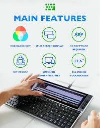 Bàn phím Đa chức năng FICIHIP - Tích hợp màn hình nhỏ đi kèm, kết nối với  điện thoại hoặc máy tính