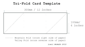 A2 Card Template Word Foldable Card Template