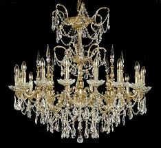 venetian collection 16 light large brass crystal chandelier