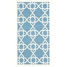 square rugs 4x4 area rug new outdoor courtyard blue beige 2 ft 7 in x 5