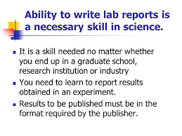 How To Write A Formal Lab Report For Chemistry Writing A Formal Lab Report Mrs Storer Chemistry Ppt Download