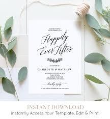 Wedding Reception Party Invitation Post Wedding