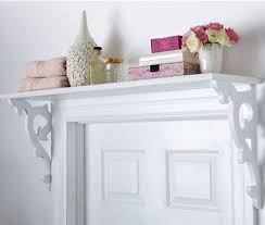 shelf storage above the bathroom door. store extra bath supplies, guest  toiletries, towels, maybe flowers :) | For the Home | Pinterest | Door  shelves, ...