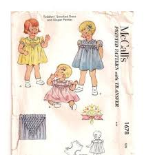 Dress Patterns For Toddlers Adorable Shop Smocked Dress Patterns Toddlers On Wanelo