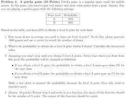 Money Pool Chart Problem 4 A Gotcha Game 35 Points Gotcha Game I