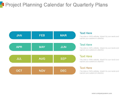 Project Planning Calendar For Quarterly Plans Ppt Images
