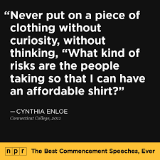 npr s best commencement speeches · connecticut college cynthia enloe 60