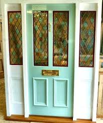 stained glass front door panels a painted pitch pine stained glass front door complete with frame