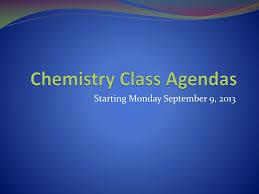 Class Agendas Ppt Chemistry Class Agendas Powerpoint Presentation Id 2757746