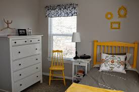 gray and yellow bedroom grey wall paint color stainles steel bed frames solid wood drawer