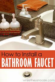 installing a bathroom faucet. Installing A Bathroom Faucet Yourself L