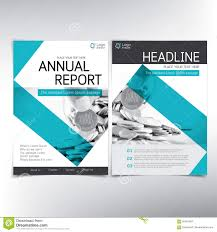 Financial Report Cover Page Modern Business And Financial Cover Page Vector Template Stock