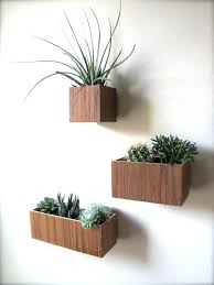 wall plant holders set of three hanging wall plant holders in teak wood includes and sizes