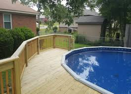 above ground pool with deck. Brilliant Above Above Ground Pool Decks To With Deck E