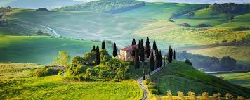 beautiful scenery in val d orcia in tuscany