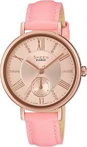 Наручные <b>часы Casio</b> Sheen <b>SHE</b>-<b>3066PGL</b>-<b>4A</b> — купить в ...