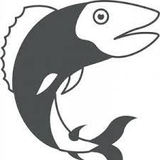Stock Illustration Salmon Trout Fish Black Silhouette Aquatic Animal