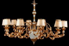 chandelier with individual lamp shades design ideas