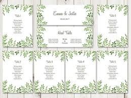 Seating Chart Cards Template Free Watercolor Wedding Seating Chart Template Lovely Leaves
