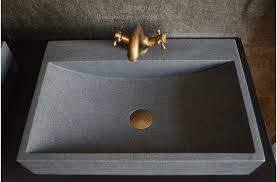 24 gray granite stone bathroom sink faucet hole diamond