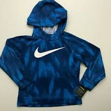 Details About Nike Nwt Youth Boys Therma Dri Fit Hoodie Blue Print White Size 5 6 7
