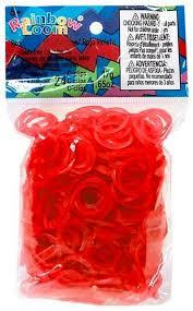 """<b>Резинки для плетения</b> гелевые <b>Rainbow</b> Loom """"Red""""   Купить с ..."""