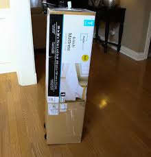 Mattress in a box walmart Full Size It Shipped In Box And Arrived On My Front Step Mattress In Box Pretty Small Box Kellys Korner Kellys Korner New Mattress Happy Girl