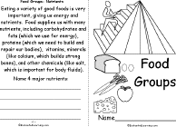 Small Picture Food Theme Page at EnchantedLearningcom