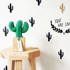 cactus wall decor stickers set of 30pcs on cactus wall art nz with home wall decor happy kong nz