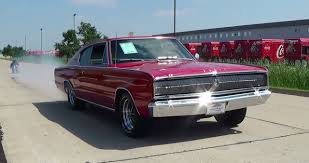 Test Drive and Burnout 1966 Dodge Charger 426 Hemi Muscle Car ...