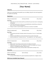 Chronological Resume Template Simple Format Templates Reverse ...
