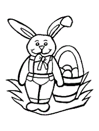 Baby rabbit playing coloring page. Rabbits Coloring Pages And Printable Activities