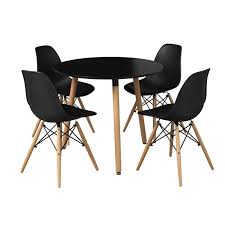 orly black round table tapered angled legs retro style loading zoom