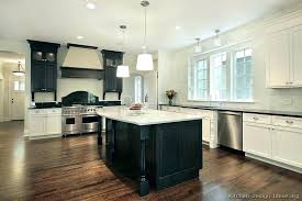 dark cabinets white marble countertops black and wonderful red kitchen traditional