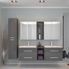 sonix 1500 wall hung double basin vanity unit grey 174693
