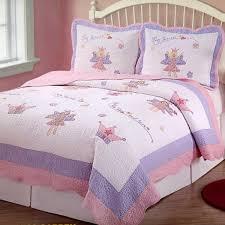 Pink Purple Fairy Princess Girls Bedding Twin Quilt Set ... & Pink Purple Fairy Princess Girls Bedding Twin Quilt Set Embroidered Cotton  Bedspread Adamdwight.com
