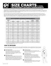 Gk Size Chart Gk Elite Size Charts The Alabama Gymnastics Store