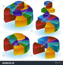 Stacking 3d Pie Charts Stock Vector Royalty Free 31640209
