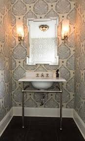 Image Frontline The Spruce 16 Glamorous Bathrooms With Wallpaper