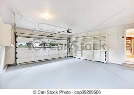 garage interior. Empty Garage Interior In American House - Csp39229506