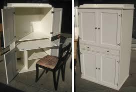 ikea corner armoire computer desk