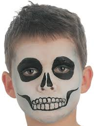 skeleton face paint step 3 for the mouth