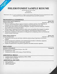 phlebotomist sample resumes. description ...