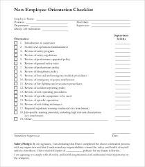 New Employee Checklist Template 14 Free Pdf Documents