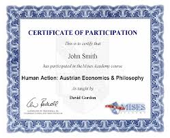Best Photos Of Certificate Of Participation Examples Sample