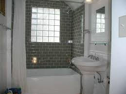 Bathroom With Black And White Mosaic Tiles Flooring Feat Subway - Glazed bathroom tile