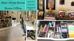 Kids Study Room And Home Office Organization Decor Tour