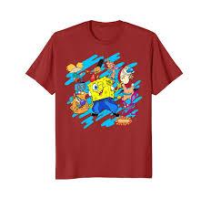 Nickelodeon Size Chart Wowteestore Nickelodeon Block Party Spongebob T Shirt 924