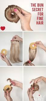 keep your big bun secret in fine hair